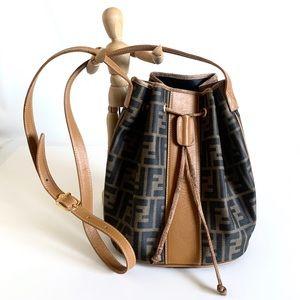 FENDI Vintage Zucca Coated Canvas Bucket Bag